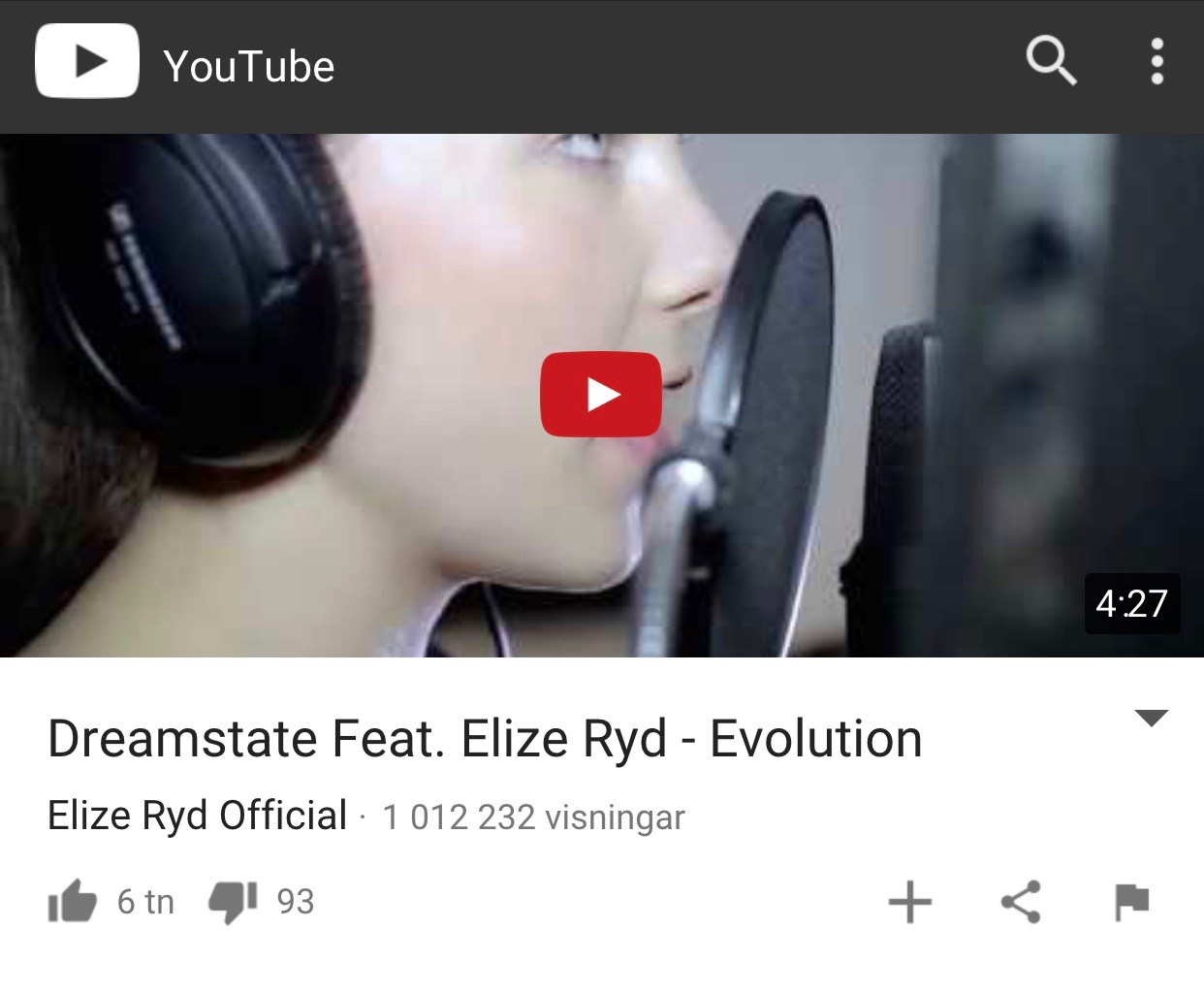 Evolution – Dreamstate have reached 1000 000+ views!  Thank you!