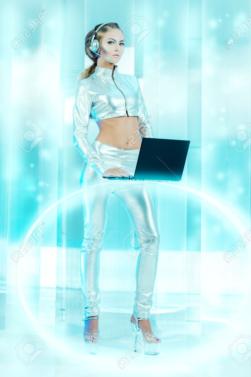 laptop girl