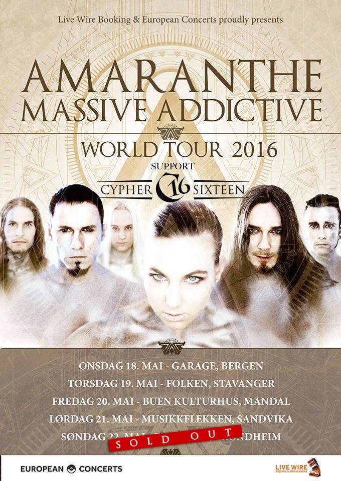 Amaranthe to Norway in May